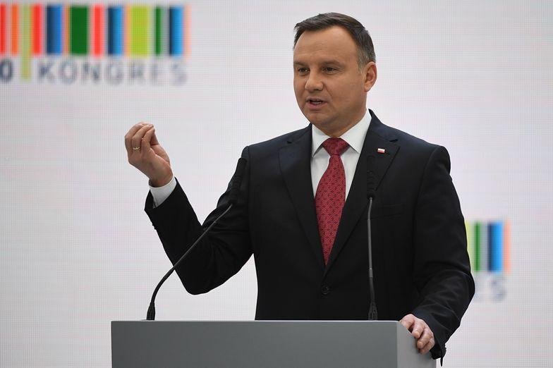 Patronami Kongresu 590 są prezydent Andrzej Duda (tu na zdjęciu podczas Kongresu sprzed roku) oraz premier Mateusz Morawiecki.