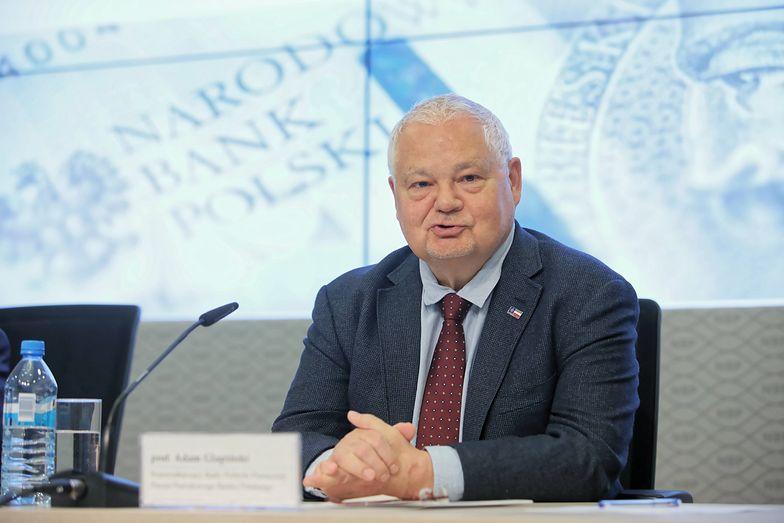 Prezes NBP Adam Glapiński. Rada Polityki Pieniężnej obniżyła stopy procentowe.