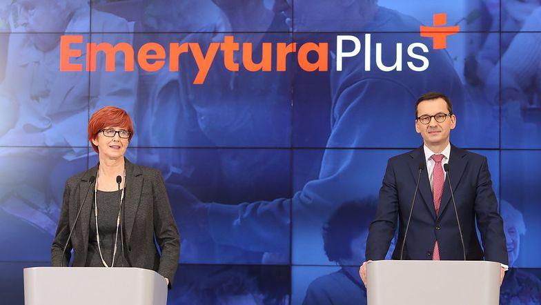 - Opozycja szuka w Polsce dyktatury, a my wspieramy emerytów - powiedział Mateusz Morawiecki.