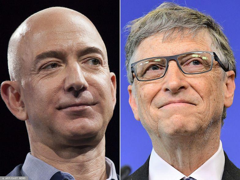Jeff Bezos i Bill Gates są na szczycie listy najbogatszych biznesmenów świata.
