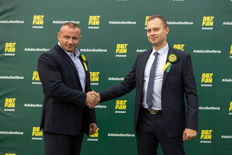 Mariusz Pudzianowski i Piotr Sienkiewicz - prezes BETFAN