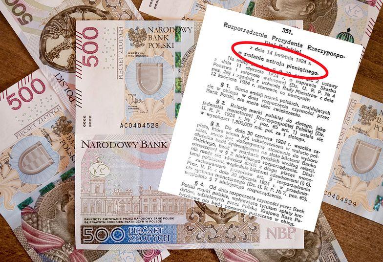 14 kwietnia 1924 roku prezydent RP podpisał rozporządzenie o zmianie ustroju pieniężnego.