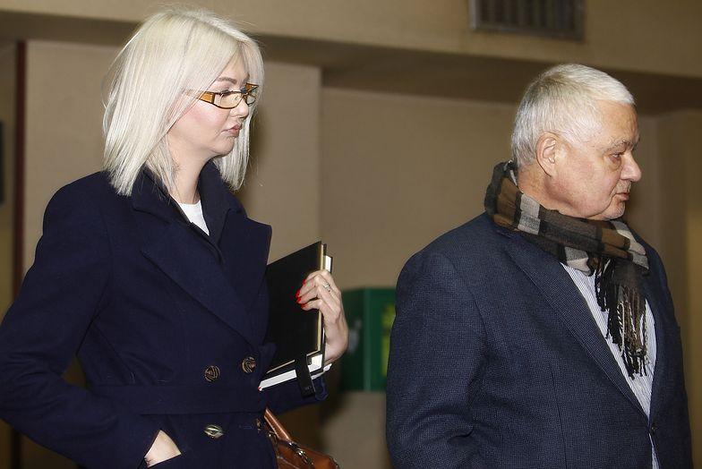 03.01.2019. Adam Glapiński i Martyna Wojciechowska pod budynkiem prokuratury w Katowicach.