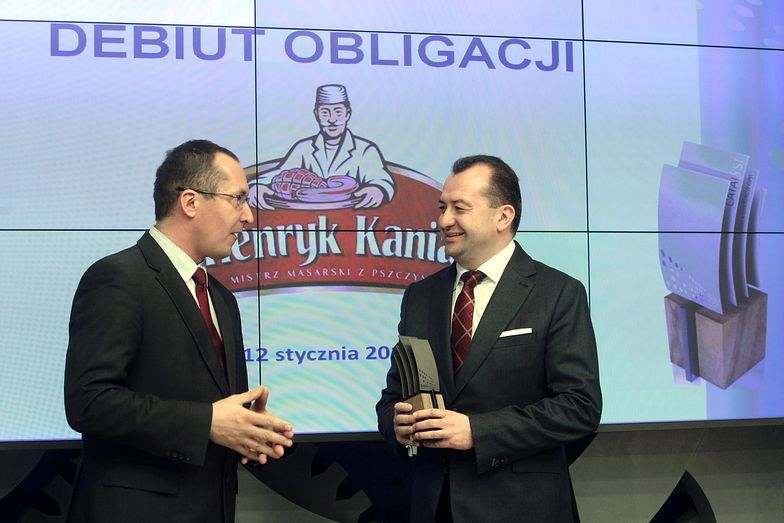 Henryk Kania (z prawej) podczas debiutu obligacji ZM Henryk Kania na rynku Catalyst warszawskiej GPW.