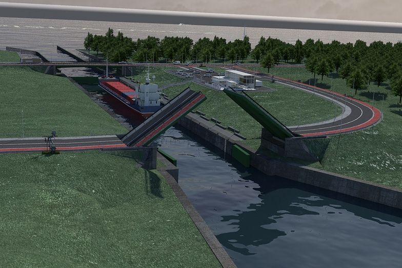Kopany przez Polskę, długi na 1,3 km kanał żeglugowy, będzie miał docelowo pięć metrów głębokości.