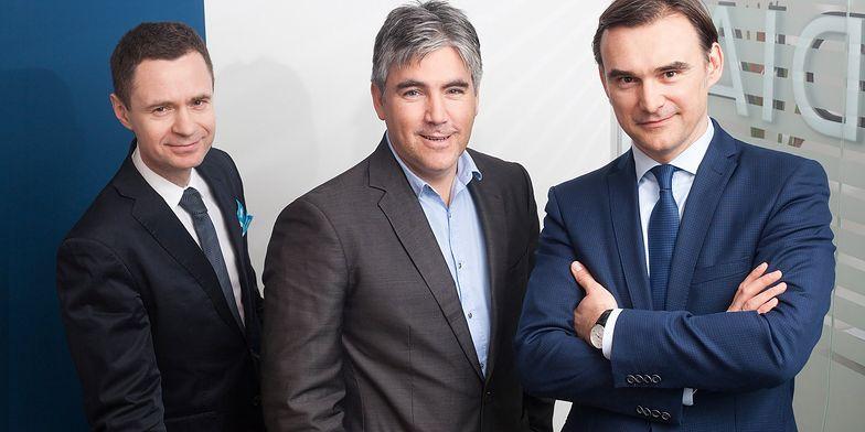 Zarząd Cordii tworzą Michał Melaniuk, Gabor Futo i Tomasz Łapiński.