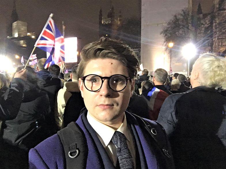 Brexit. Reporter Wirtualnej Polski i money.pl Paweł Orlikowski w Londynie