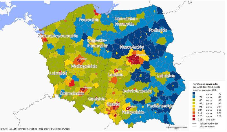 W Polsce mamy 380 powiatów.