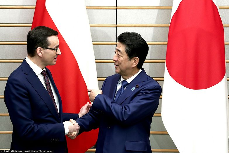 Morawiecki obecnie przebywa w Tokio. 21 stycznia rozmawiał z premierem Japonii Shinzō Abe.