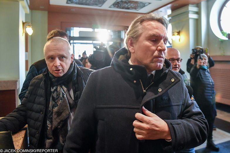 Austriak Gerald Birgfellner w prokuraturze w Warszawie, 11 lutego 2019 roku
