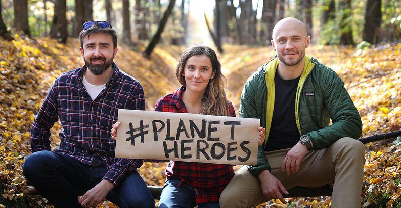 Twórcy platformy Planet Heroes: Przemek Pyziel, Monika Habrzyk i Jan Domański.