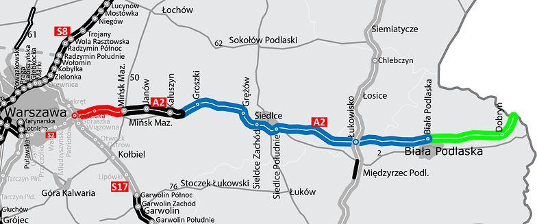 A2 do granicy z Białorusią. Końcowe 32 km autostrady za 1,5 mld zł