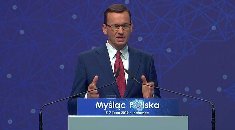 Premier Mateusz Morawiecki na konwencji PiS w Katowicach o wyzwaniach na następną kadencję