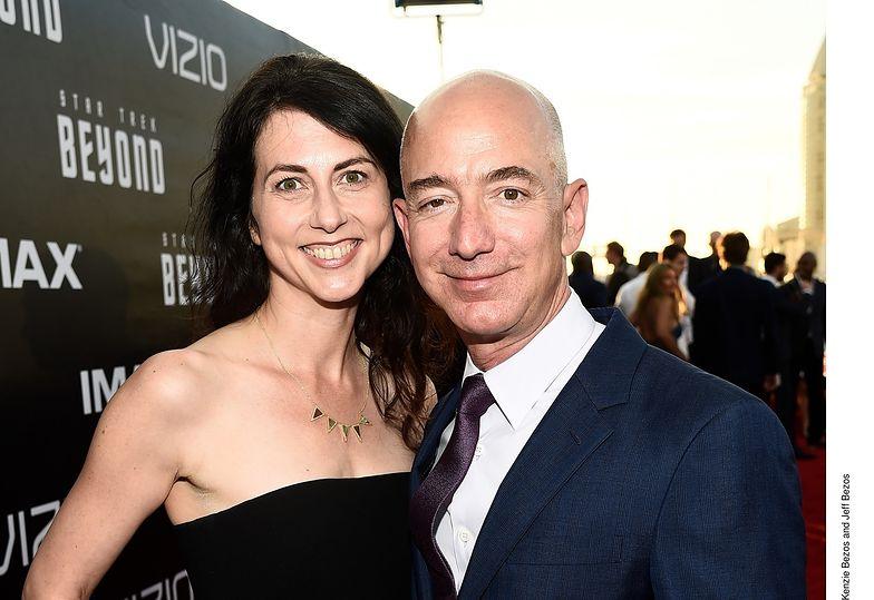 MacKenzie i Jeff Bezos jeszcze jako małżeństwo.