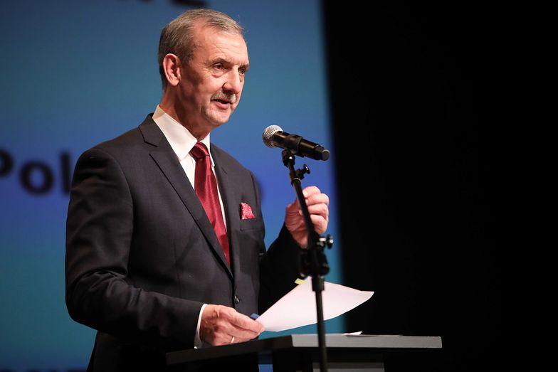 Sławomir Broniarz mówił o postulatach ZNP na zjeździe delegatów.