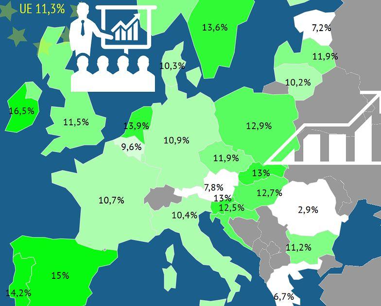 Irlandia ma najwięcej szybko rosnących firm w Europie