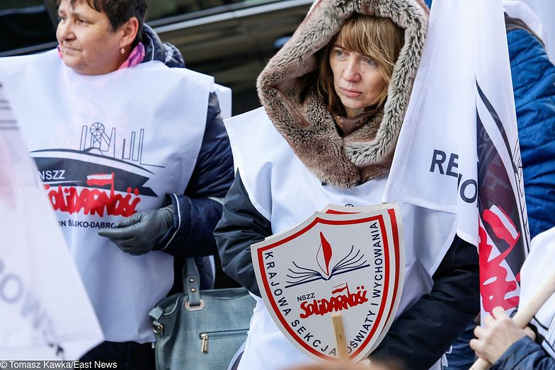 Strajk nauczycieli, który ma się rozpocząć 8 kwietnia.