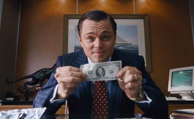 """Leonardo diCaprio w filmie """"Wilk z Wall Street""""."""