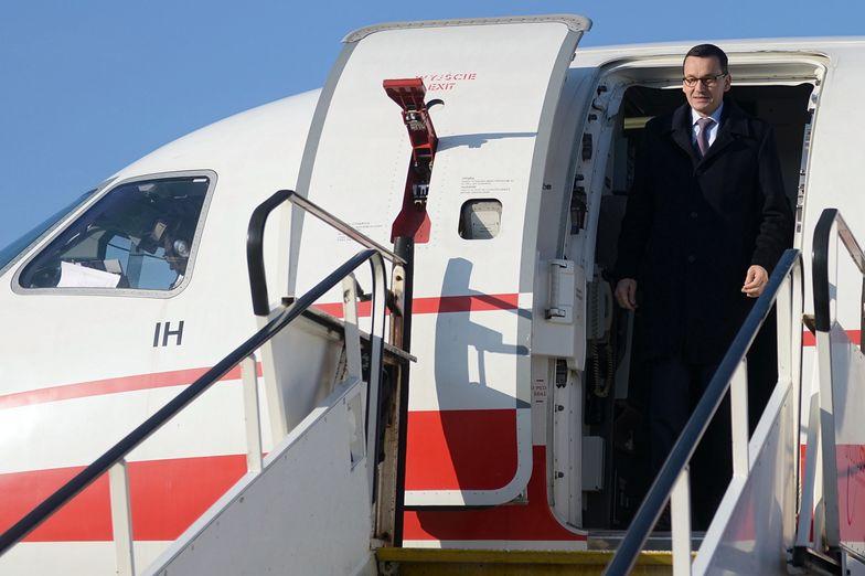 Lot premiera miał miejsce zaledwie cztery dni po dymisji marszałka Sejmu Marka Kuchcińskiego.