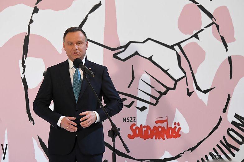 Prezydent Andrzej Duda apeluje o wyważone podejście do protestu nauczycieli.