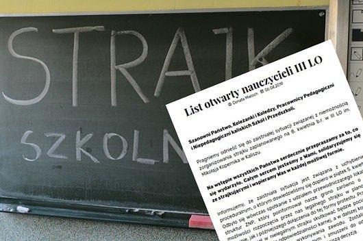 Strajk nauczycieli. Kaliskie liceum bez nauczycieli z powodu zwolnień lekarskich