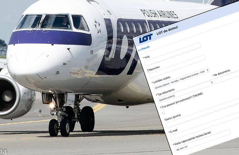 LOT uruchomił stronę dla Polaków chcących wrócić do kraju. Sprawdzamy jak działa