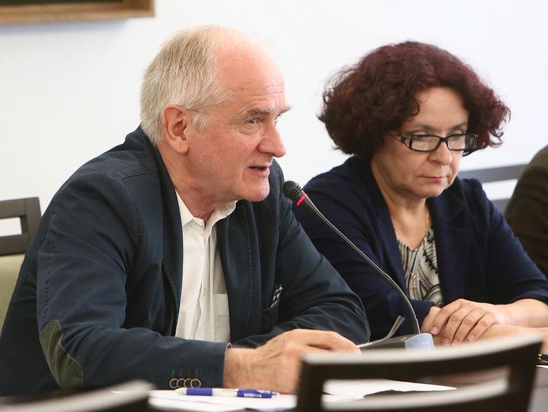 Krzysztof Czabański, przewodniczący RMN  i Elżbieta Kruk