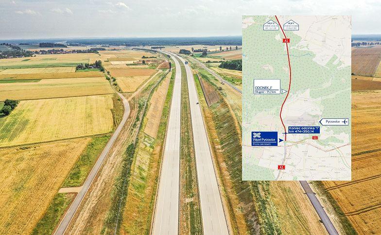 Nowy fragment autostrady A1 - od Pyrzowic do węzła Częstochowa Południe