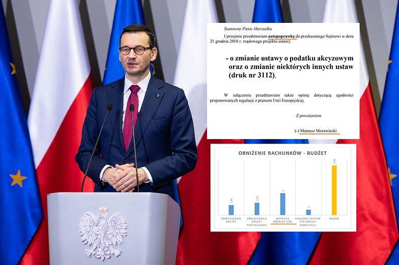 Premier rzutem na taśmę wnosi do Sejmu autopoprawkę do ustawy dot. cen prądu