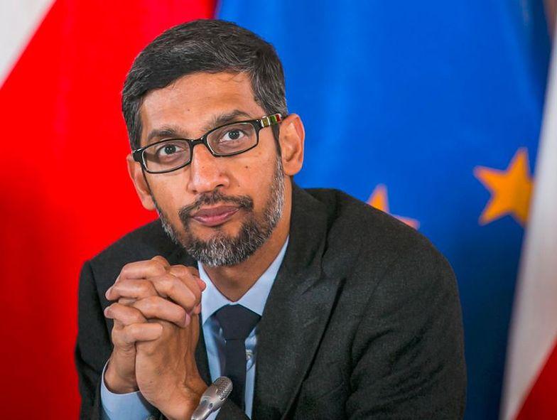 Sundar Pichai, CEO Google, podczas wizyty w Polsce.
