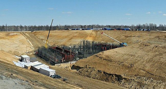Budowa kosmodromu Wastocznyj w Rosji.