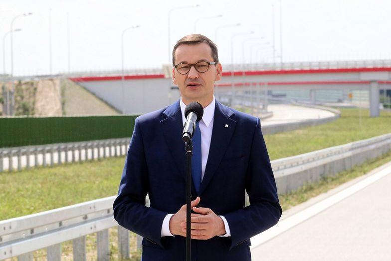 Autostrada A1. Na zdj. premier Mateusz Morawiecki podczas otwarcia nowego odcinka A1
