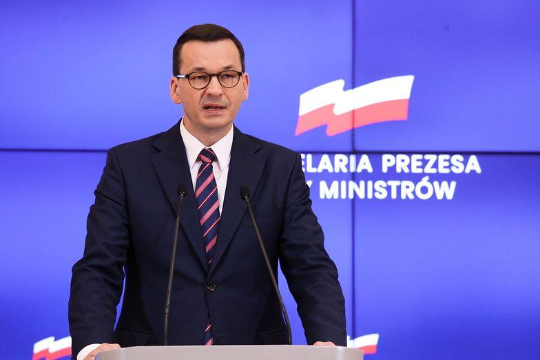 Premier Mateusz Morawiecki po wtorkowym posiedzeniu rządu.