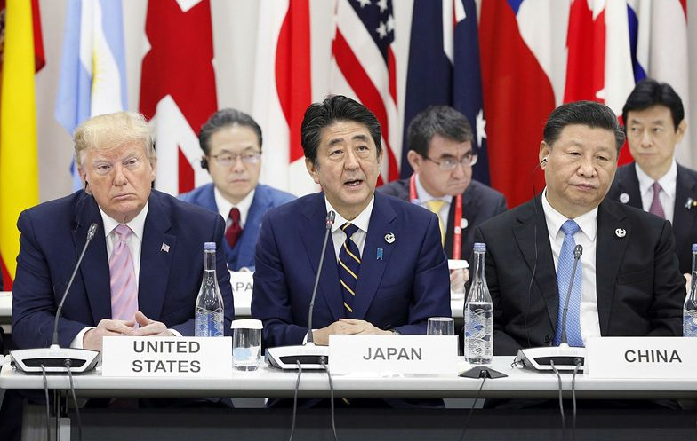 Od lewej: Donald Trump, Shinzo Abe i Xi Jinping