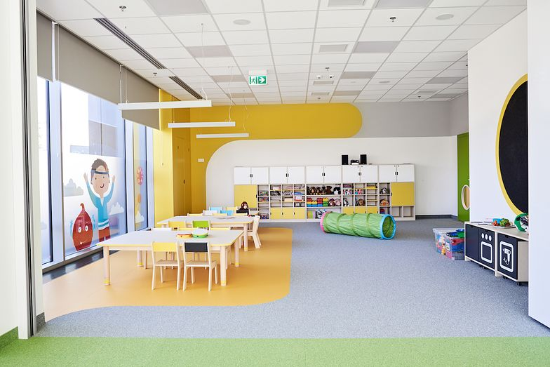 Warszawskie przedszkole KIDS&CO w biurowcu D48 przy ul. Domaniewskiej.
