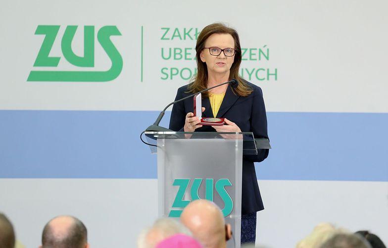 Gertruda Uścińska, prezes ZUS, udostępniła dziennikarzom prognozy Zakładu.