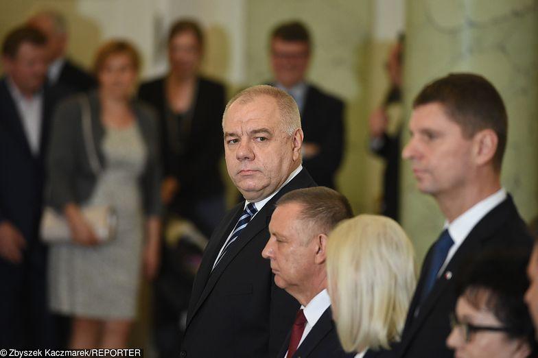 Na zdjęciu Jacek Sasin, Marian Banaś, Dariusz Piontkowski.
