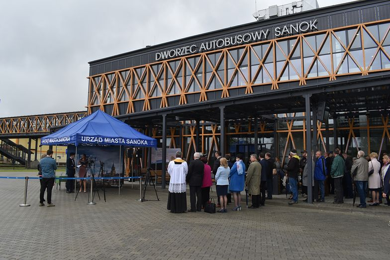 Tak prezentował się Dworzec Autobusowy Sanok w dniu otwarcia.