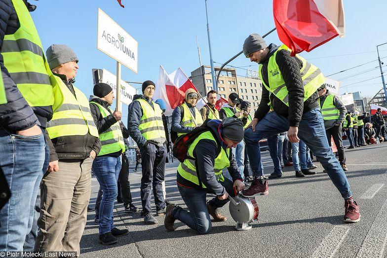 Protest rolników - Plac Zawiszy