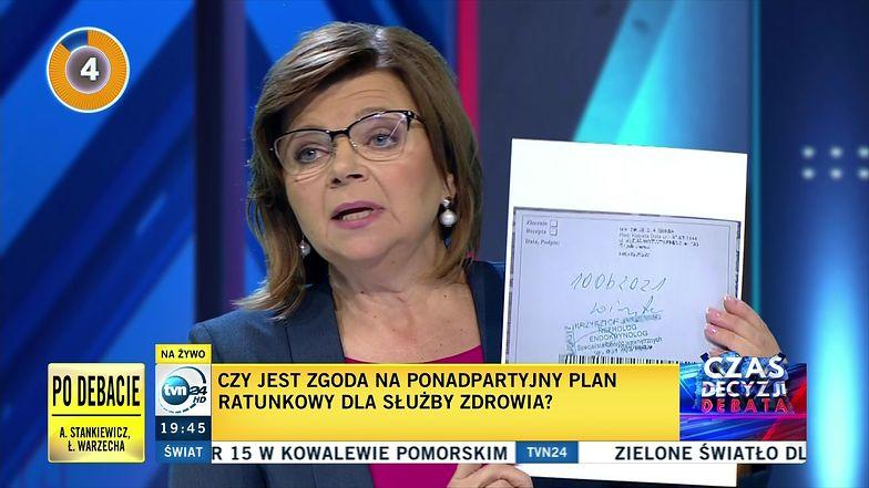 Debata w Tvn24. Politycy starli się o kolejki do lekarzy