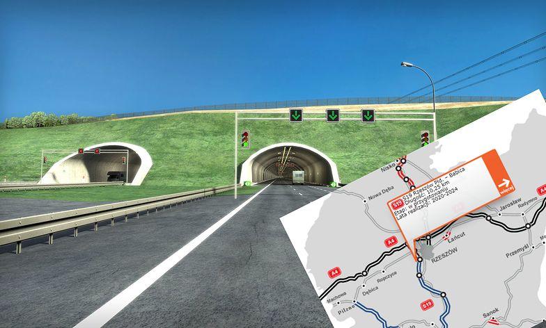 Tunel na drodze S19 pod Rzeszowem ma być jednym z najdłuższych w Polsce