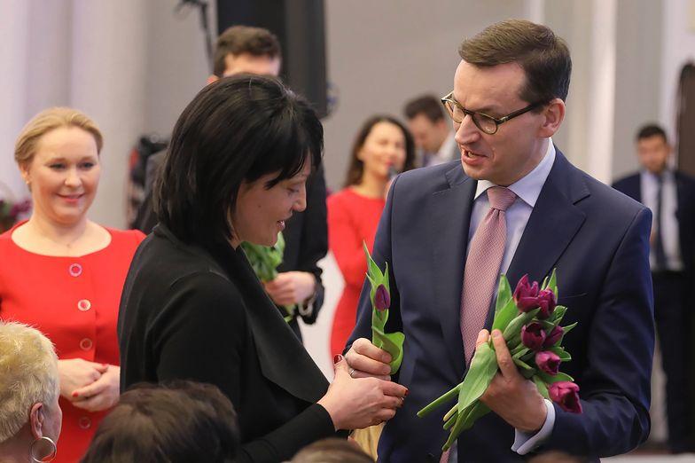 """Mateusz Morawiecki podczas konferencji """"Przedsiębiorcze Kobiety""""."""