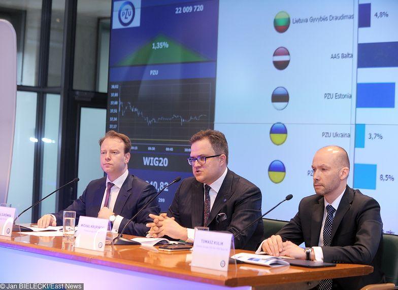 Z lewej Paweł Surówka, prezes PZU. Spółka wraz z Pekao (prezes Michał Krupiński w środku) zorganizowała w Davos Dom Polski