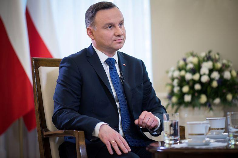 """Prezydent Andrzej Duda o """"piątce Kaczyńskiego"""": Popieram działania, które wspierają ludzi"""