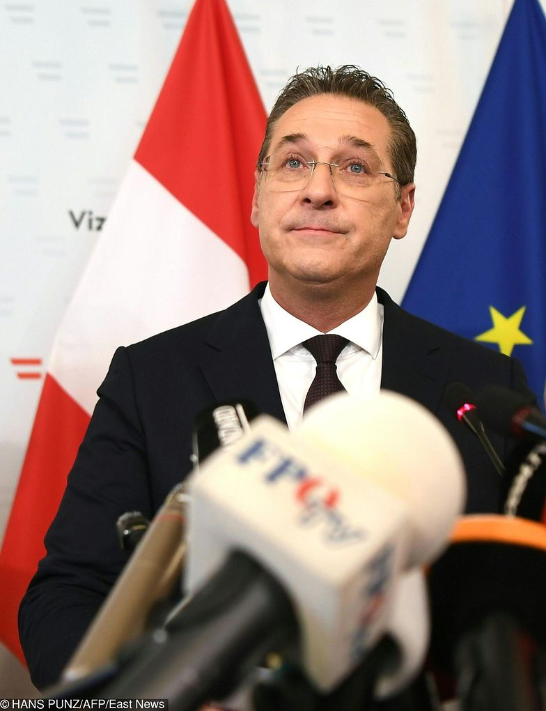 Wicekanclerz Austrii Heinz-Christian Strache podał się do dymisji