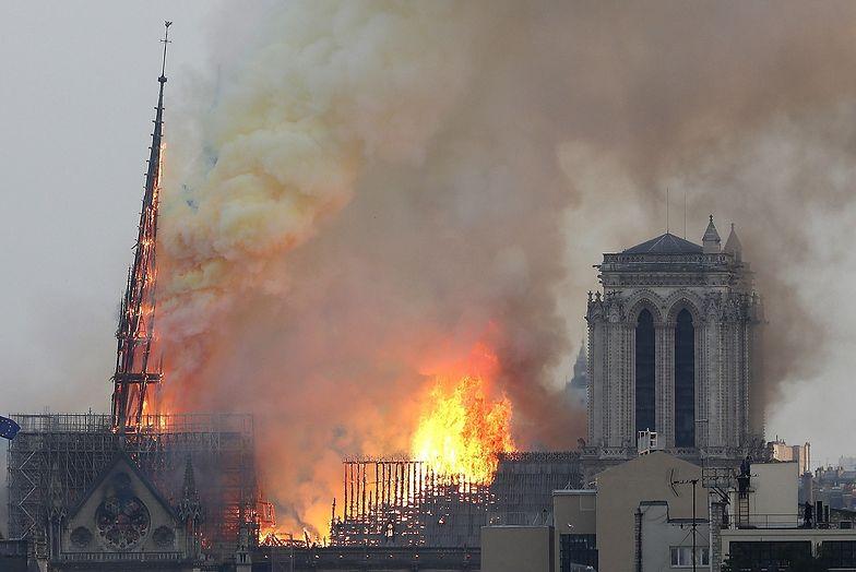 Pożar katedry Notre Dame. Wielki ogień wybuchł kilka dni po rozpoczęciu remontu