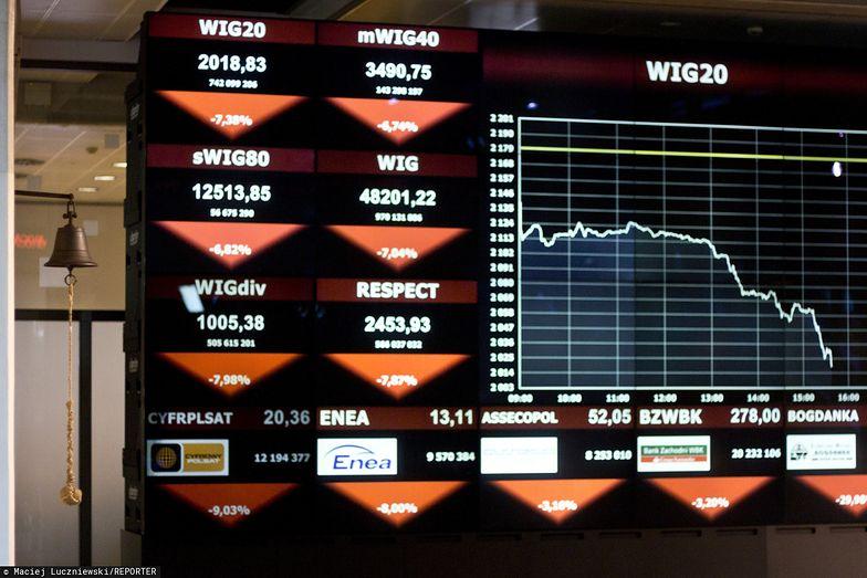 Panika na światowych rynkach. Efekt koronawirusa. (zdjęcie archiwalne)
