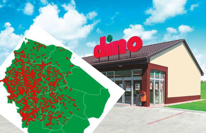 Sieć Dino skoncentrowana jest w zachodniej Polsce