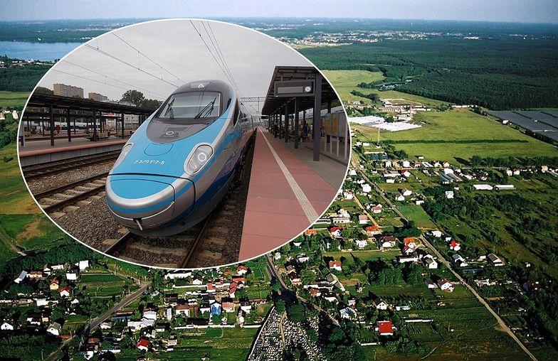 Nowa linia kolejowa dla pociągów pendolino może podzielić gminę Wieliszew na pół.