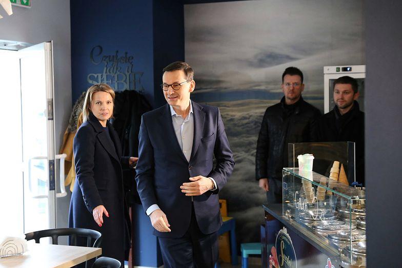 Morawiecki był w niedzielę na Śląsku, gdzie odwiedził cukiernię Surdel w Pilchowicach.